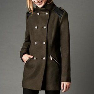 VINCE CAMUTO Double Breasted Wool Coat in Military Style